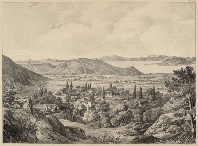 """Ruins of Iolchos in Thessaly from Dodwell's """"Views and descriptions of Cyclopian or Pelasgic remains in Greece and Italy"""", 1834"""